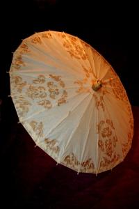 parasol goud-créme frontx
