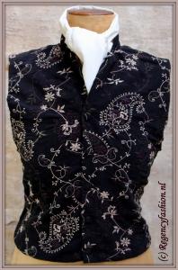 waistcoat zwart borduur